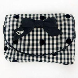 Authentic Dior Rare Gingham Cosmetic Bag